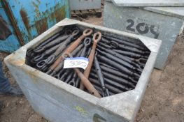 Assorted Cable Tensioners & Equipment, in steel ch