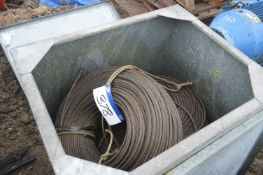 Two Reels of Steel Wire Rope, 10mm dia., in steel chest (chest excluded) (chest 81)