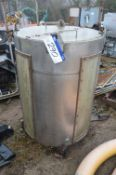 Stainless Steel Tank, approx. 900mm dia. x 1.2m de