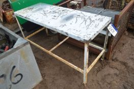 Stainless Steel Top Bench, approx. 1.53m x 620mm
