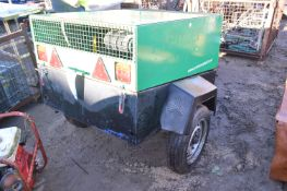 Single Axle Trailer Mounted Mobile Air Compressor,