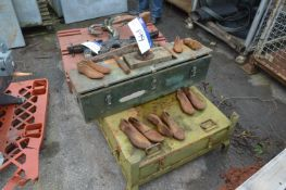 Shoemakers Lasts, as set out (box pallet excluded)