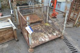Steel Cage Pallet, approx. 1200mm x 1m x 900mm dee