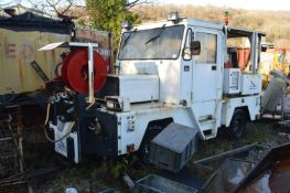 Hydro-Geratebau SG110 GENERATOR CABLE DRUM / FORK LIFT MOBILE GROUND SUPPORT UNIT, serial no.