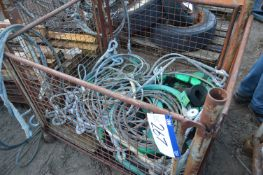 Assorted Wire Cable, in steel cage pallet (cage pa