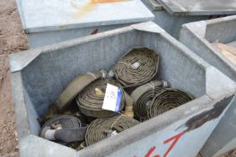 Mainly 70mm Lie Flat Hose, in steel chest (chest e
