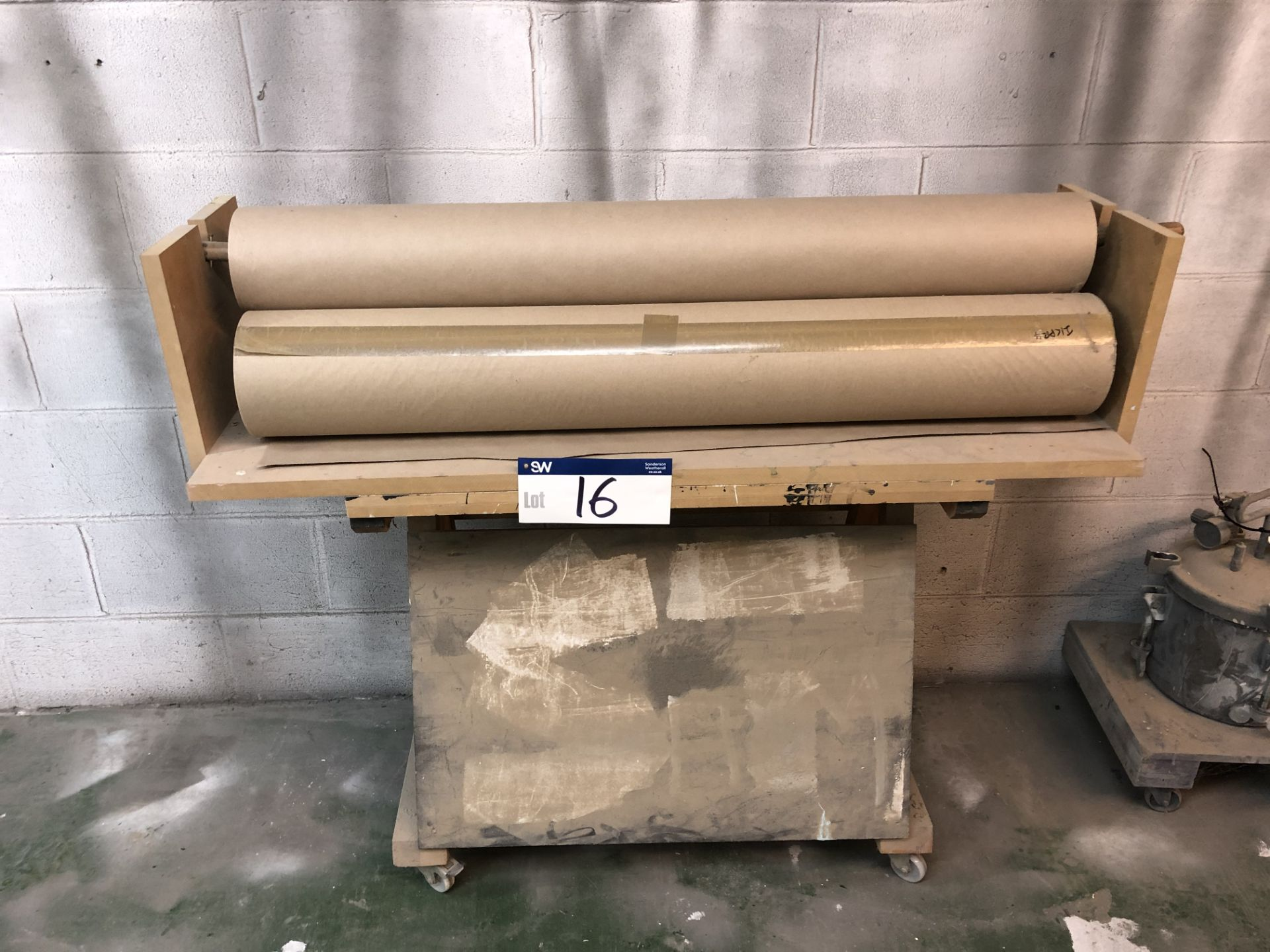 Lot 16 - Masking Paper Reels and Stand