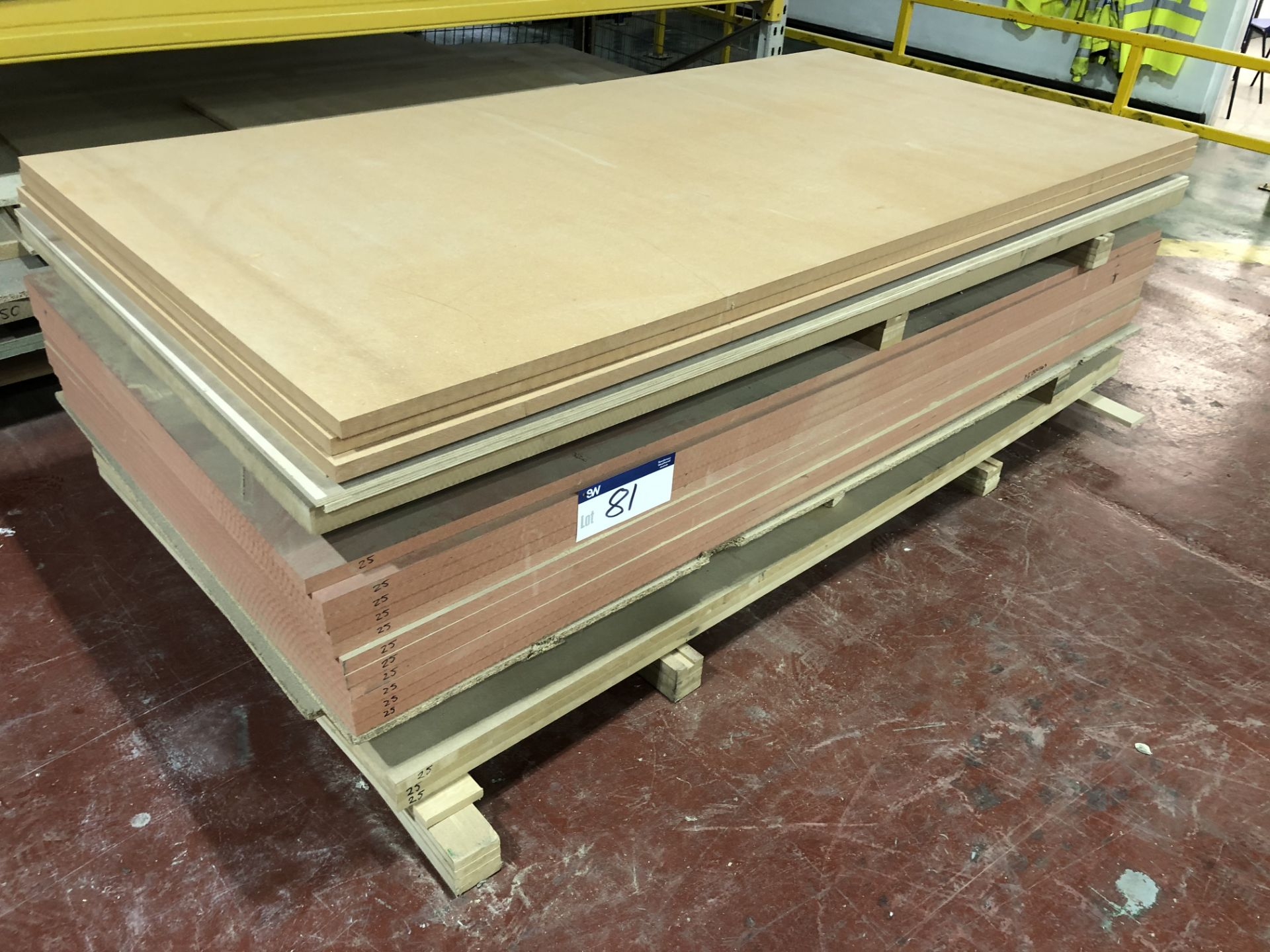 Lot 81 - 11 Sheets of 25mm x 2440 x 1220 Fire Boards. 1 Sheet of 45mm x 2440 x 1220mm MDF. 2 Sheets of 10mm x