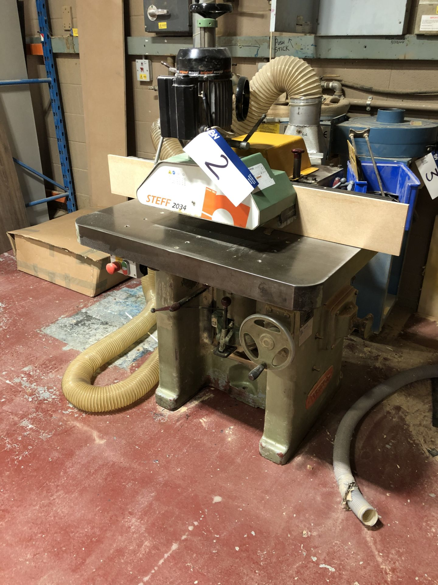 Lot 2 - Wadkin EQ Single Spindle Moulder. Serial Number 4142. Complete with Steff 2034 Power Feed