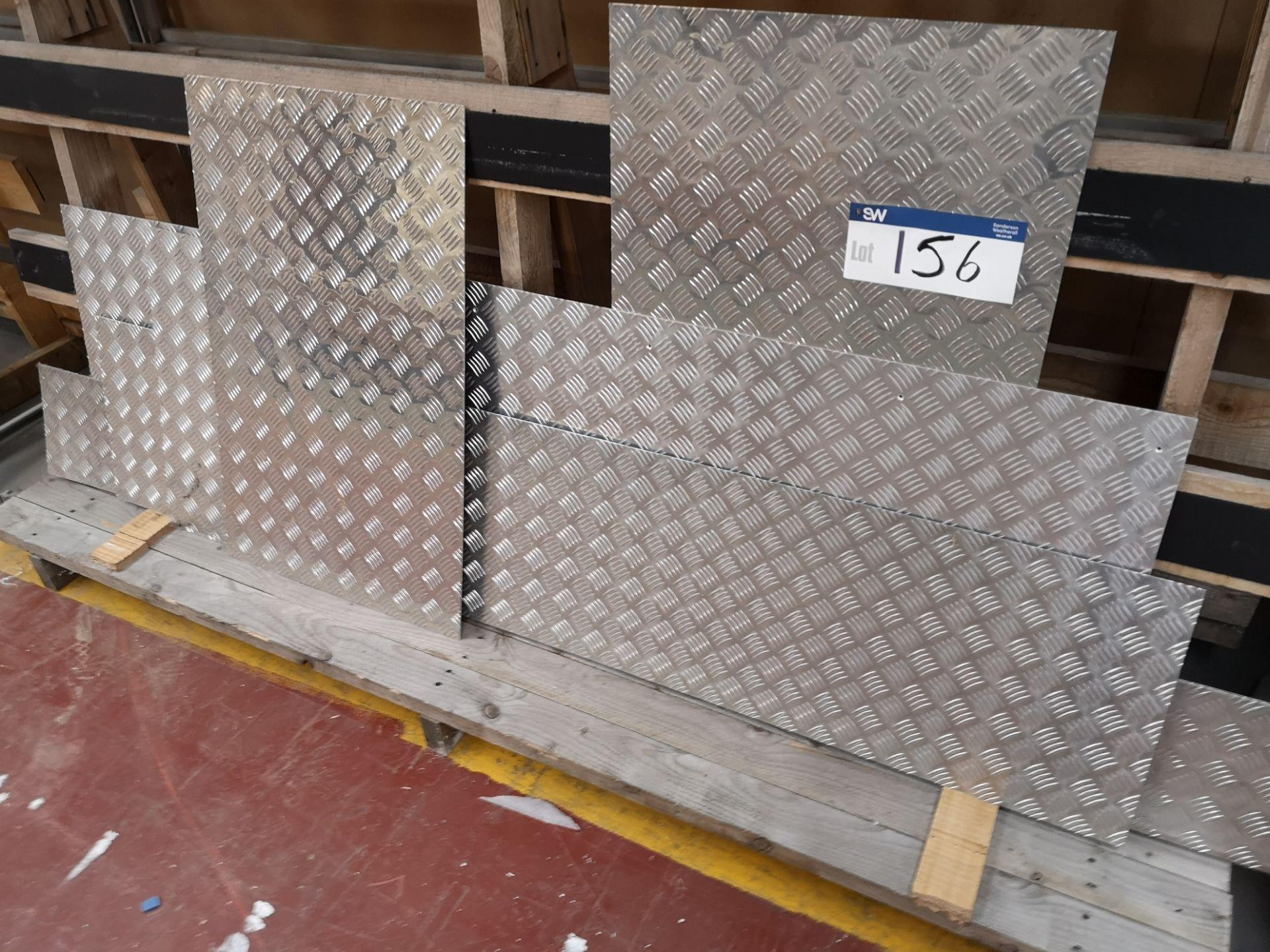 Lot 156 - Quantity of Aluminium Checker Plate