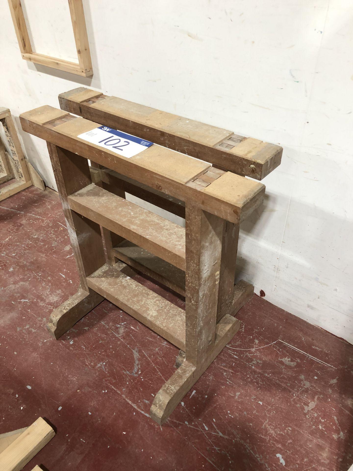 Lot 102 - 2 Wooden Trestles