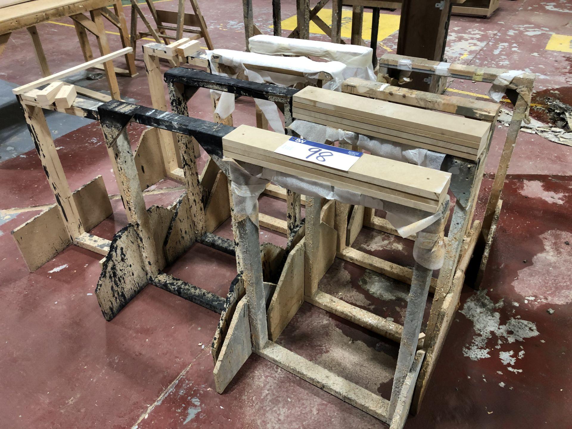 Lot 98 - 10 Wooden Trestles