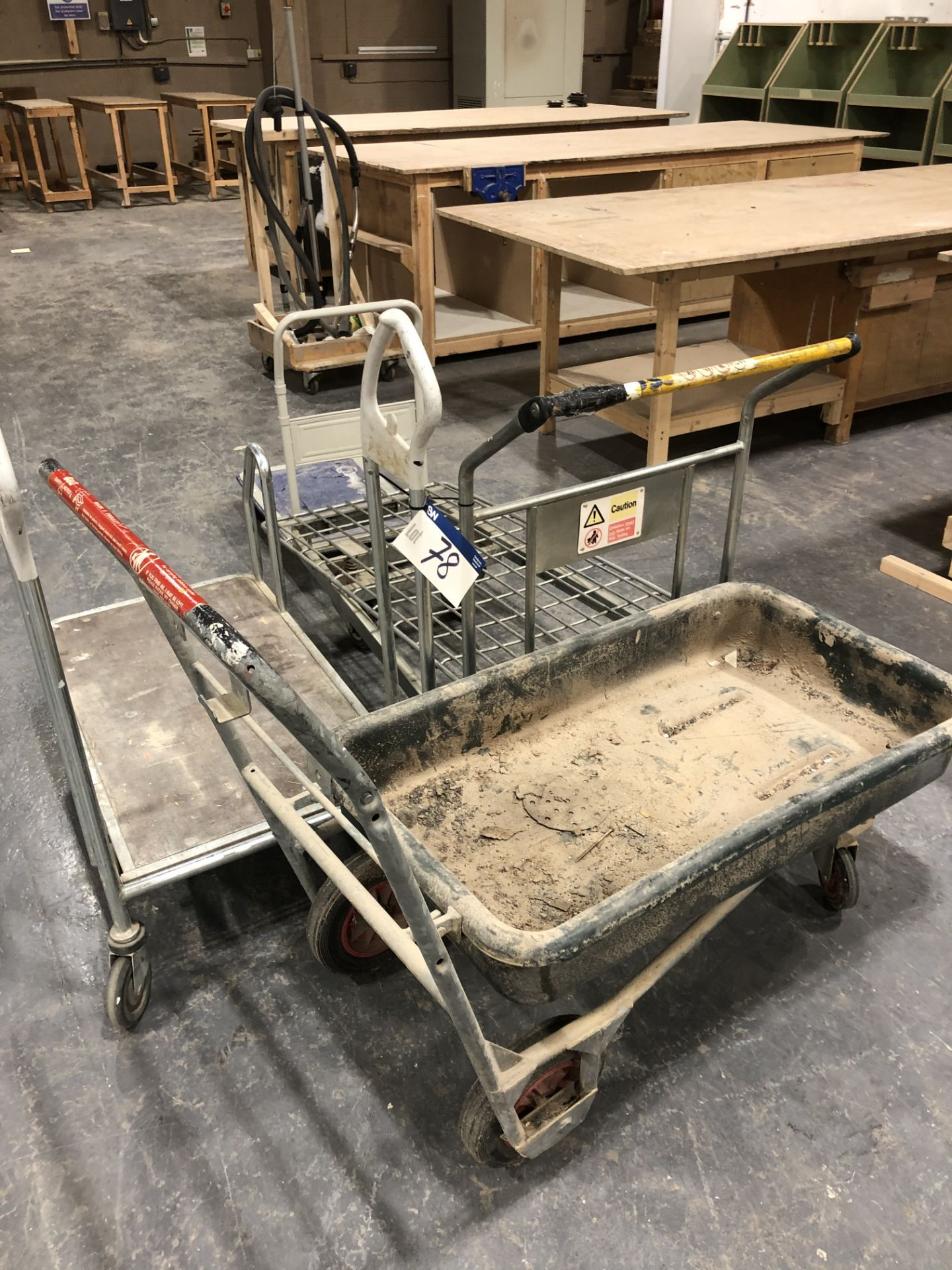 Lot 78 - 4 Flat Stock Trolleys