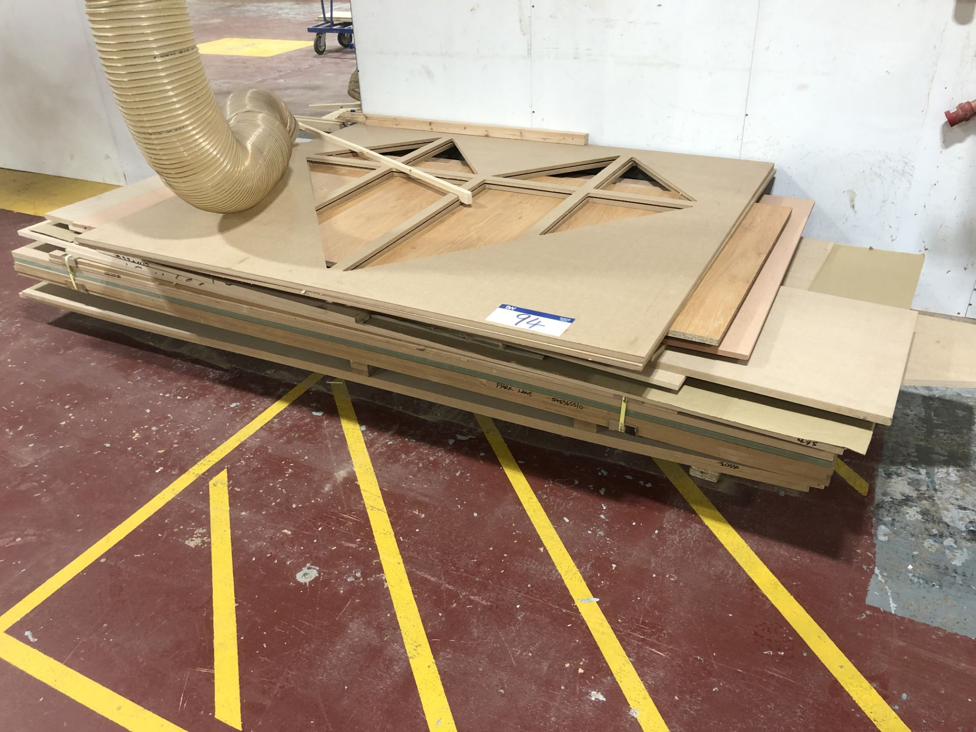 Lot 94 - Contents to Pallet Include Various MDF Sheets