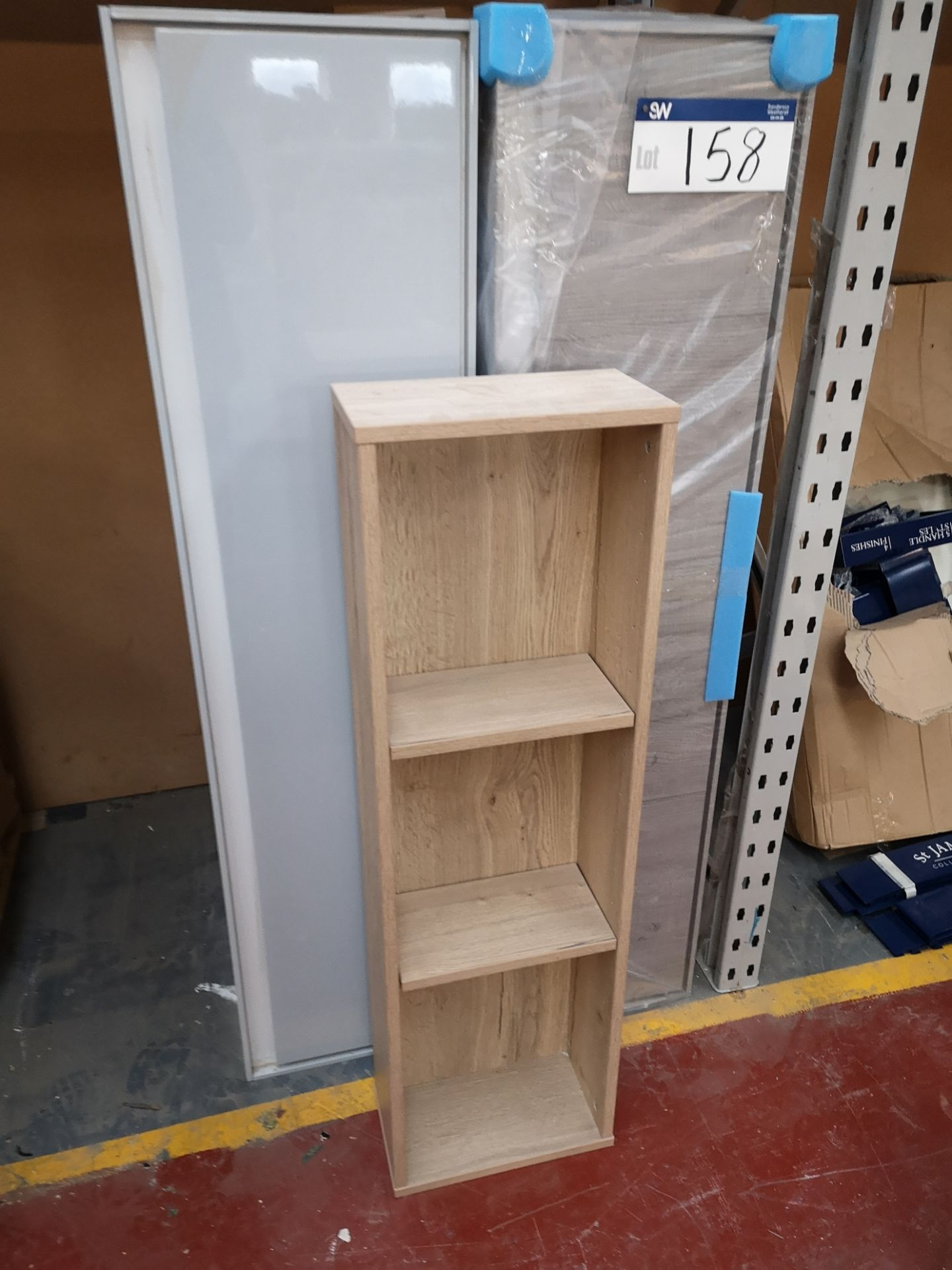 Lot 158 - 2 Bathroom Cabinets and a Shelving Unit