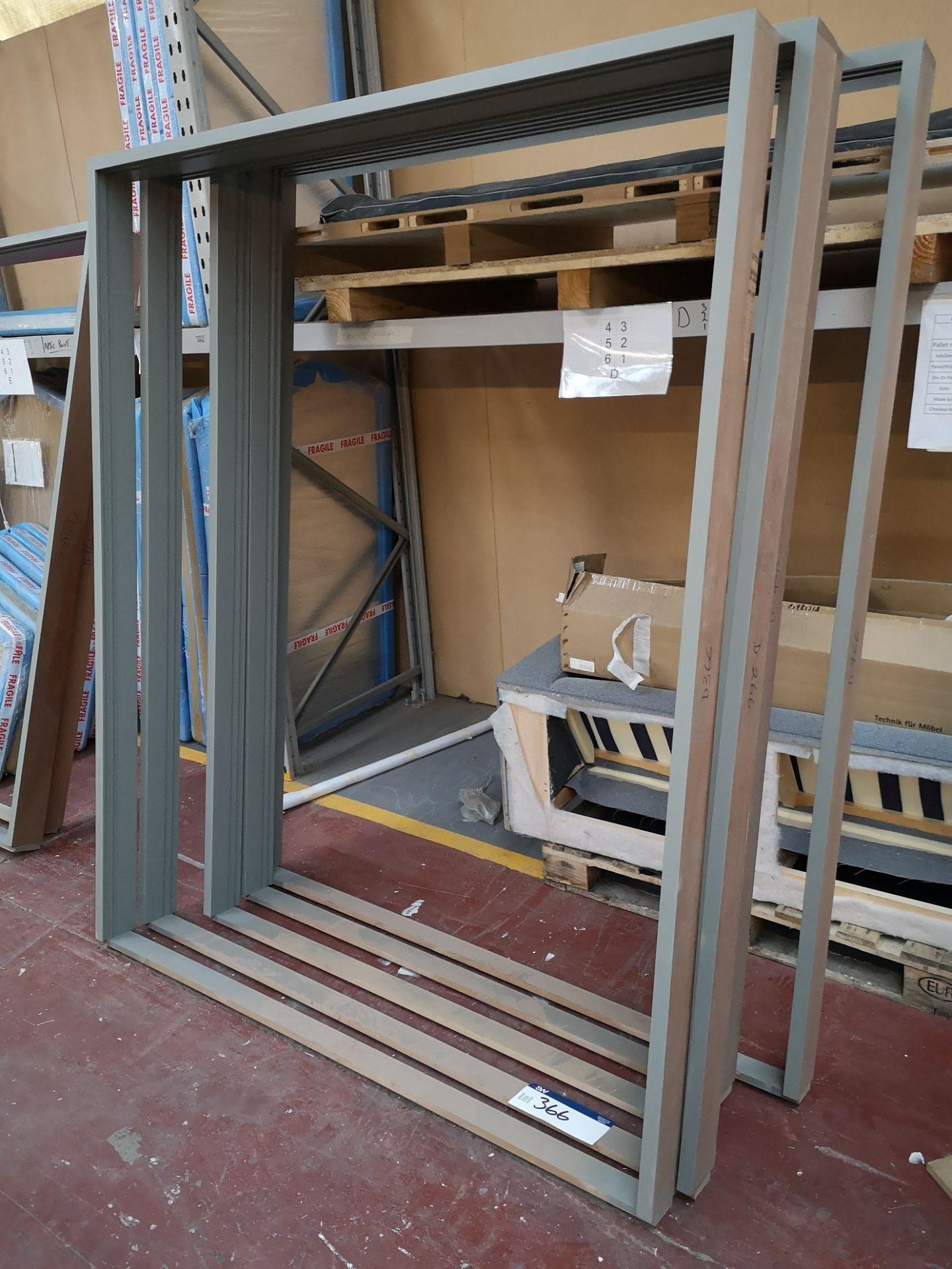 Lot 366 - 7 Hardwood Double Door Frames