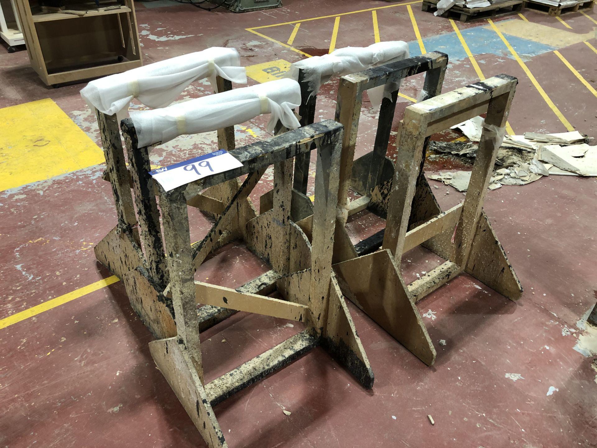 Lot 99 - 6 Wooden Trestles
