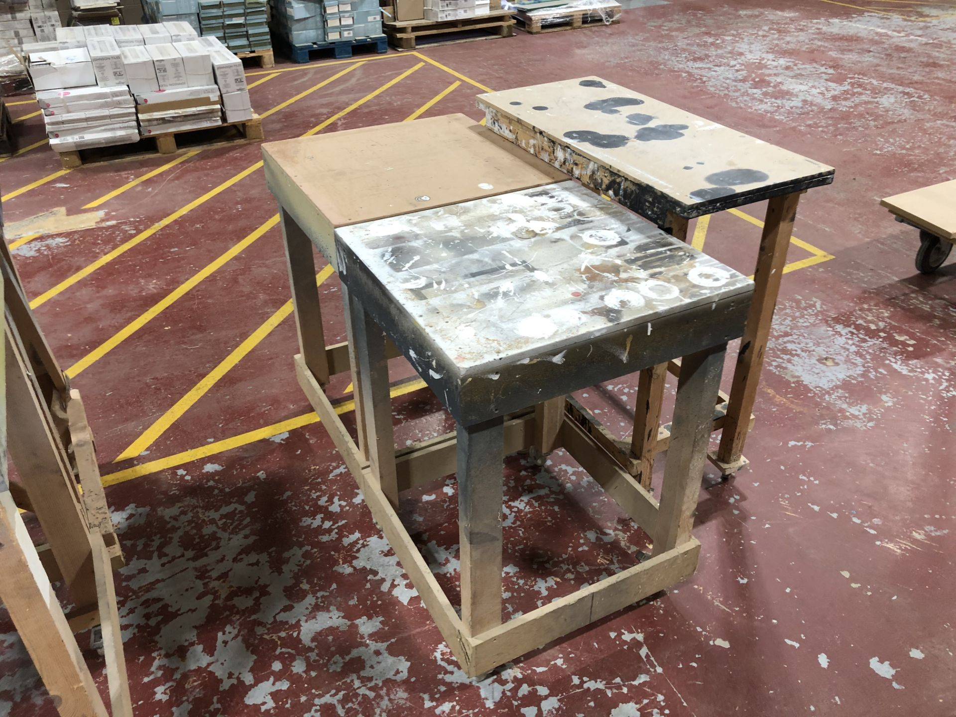 Lot 95 - 8 Mobile Work Tables