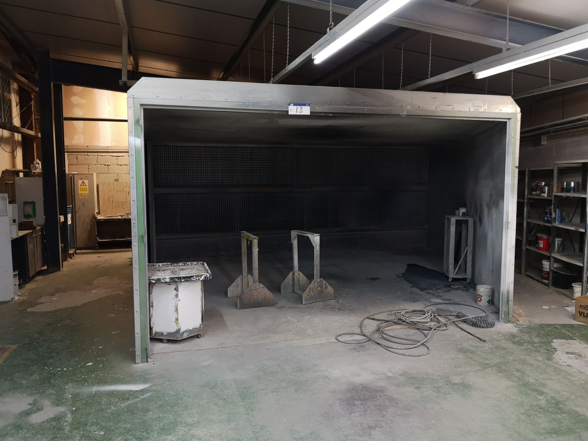 Lot 13 - Galvanised Steel Sectional Dry Back Spray Booth