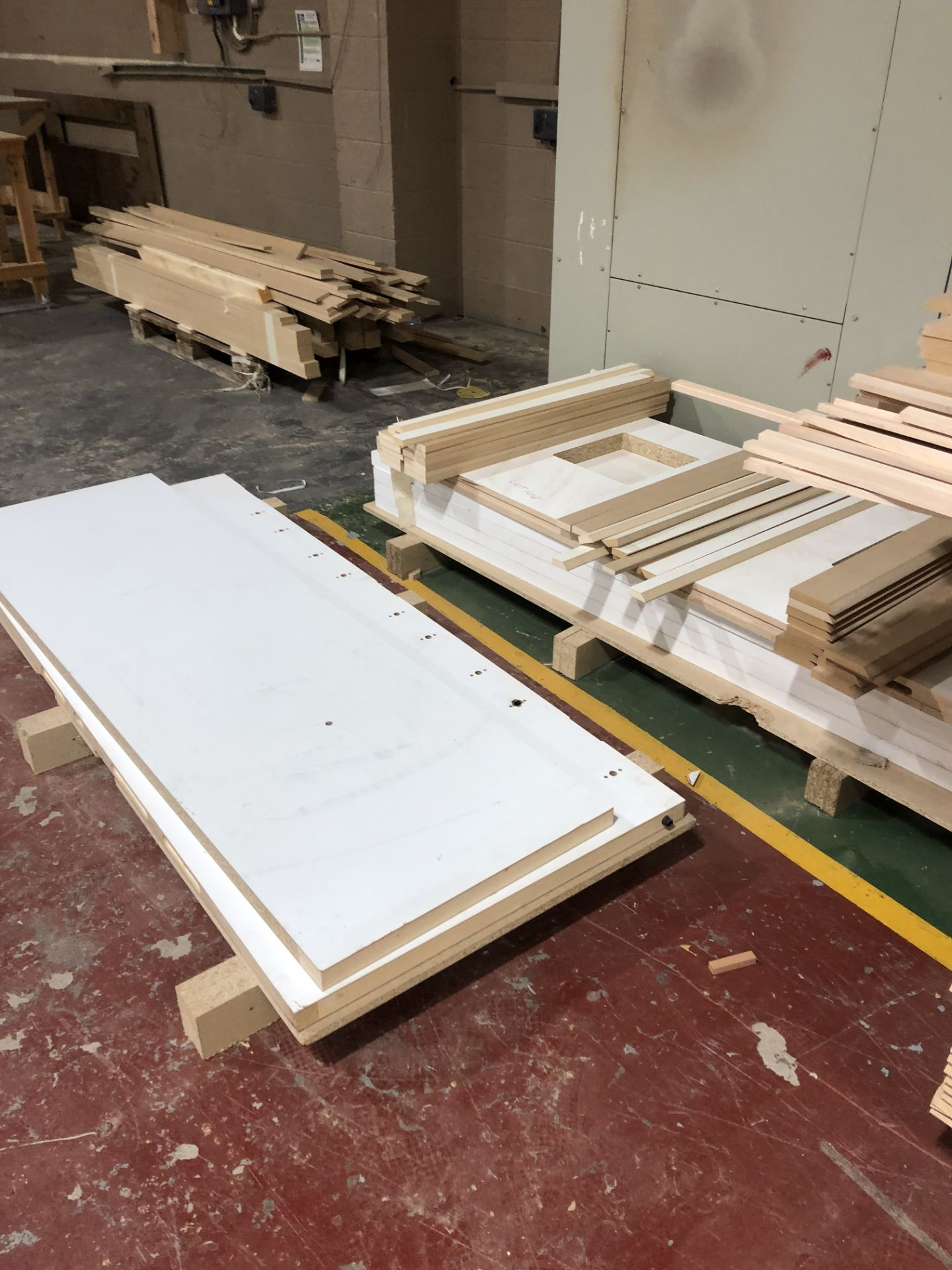 Lot 106 - Various Cut to Size MDF Battens and Profile and Chipboard Components on 5 Pallets