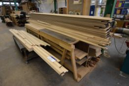 Timber Skirting & Section, as set out in two stack