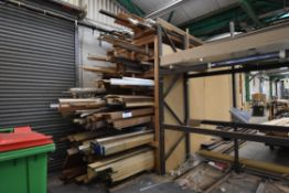 Hardwoods & Softwoods, on timber rack, including p