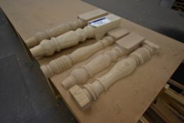 Five Timber Balustrades, as set out