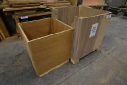 Two Timber Waste Wood Boxes