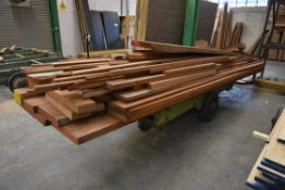 MAINLY HARDWOOD PAR, set out on trolley, up to app