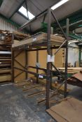 Single Bay Bolted Steel Rack, approx. 3.3m x 1050m