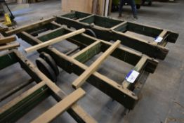 Timber Framed Trolley, approx. 800mm x 3.3m
