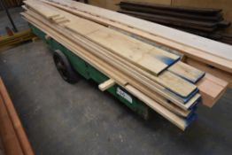 Timber Framed Trolley, approx. 800mm x 3.3m (exclu