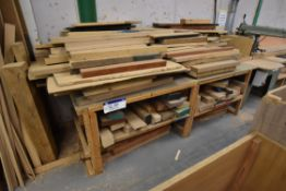 Timber Bench, with timber offcuts
