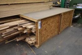 Timber Bench, with contents under, including mainl