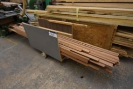 Trolley, with moulded timber profile contents