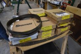 Starrett Saw Blades, as set out on bench