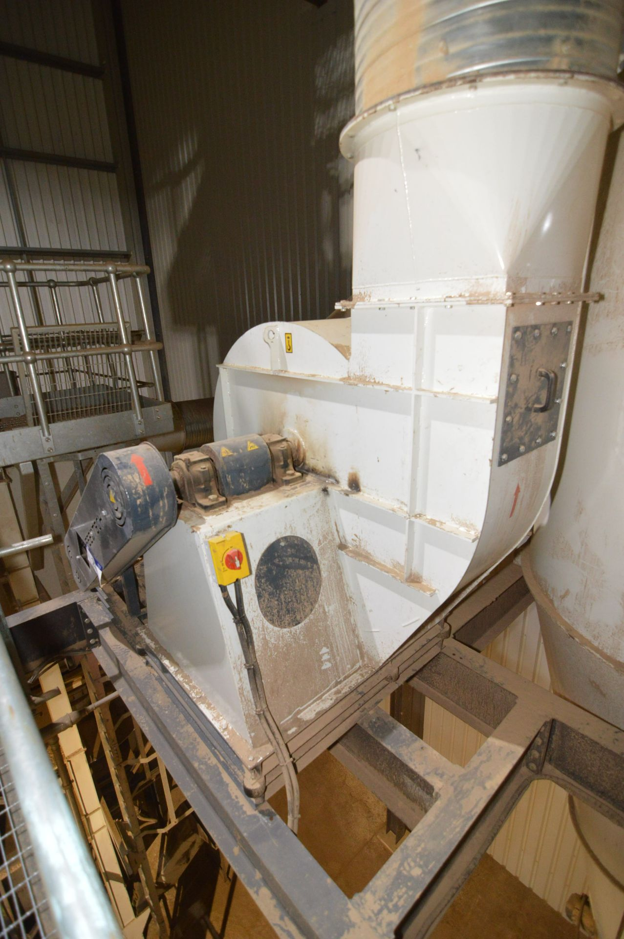 Lot 21 - Feedtech Steel Cased Centrifugal Fan, (data plate inaccessible), with approx. 500mm x 550mm