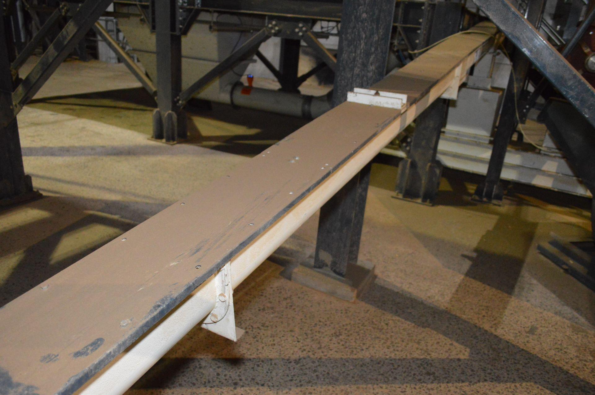 Lot 9 - Feedtech 150mm dia. Inclined Screw Conveyor, 6.9m long, 150mm x 6860mm, serial no. 208 01 001,