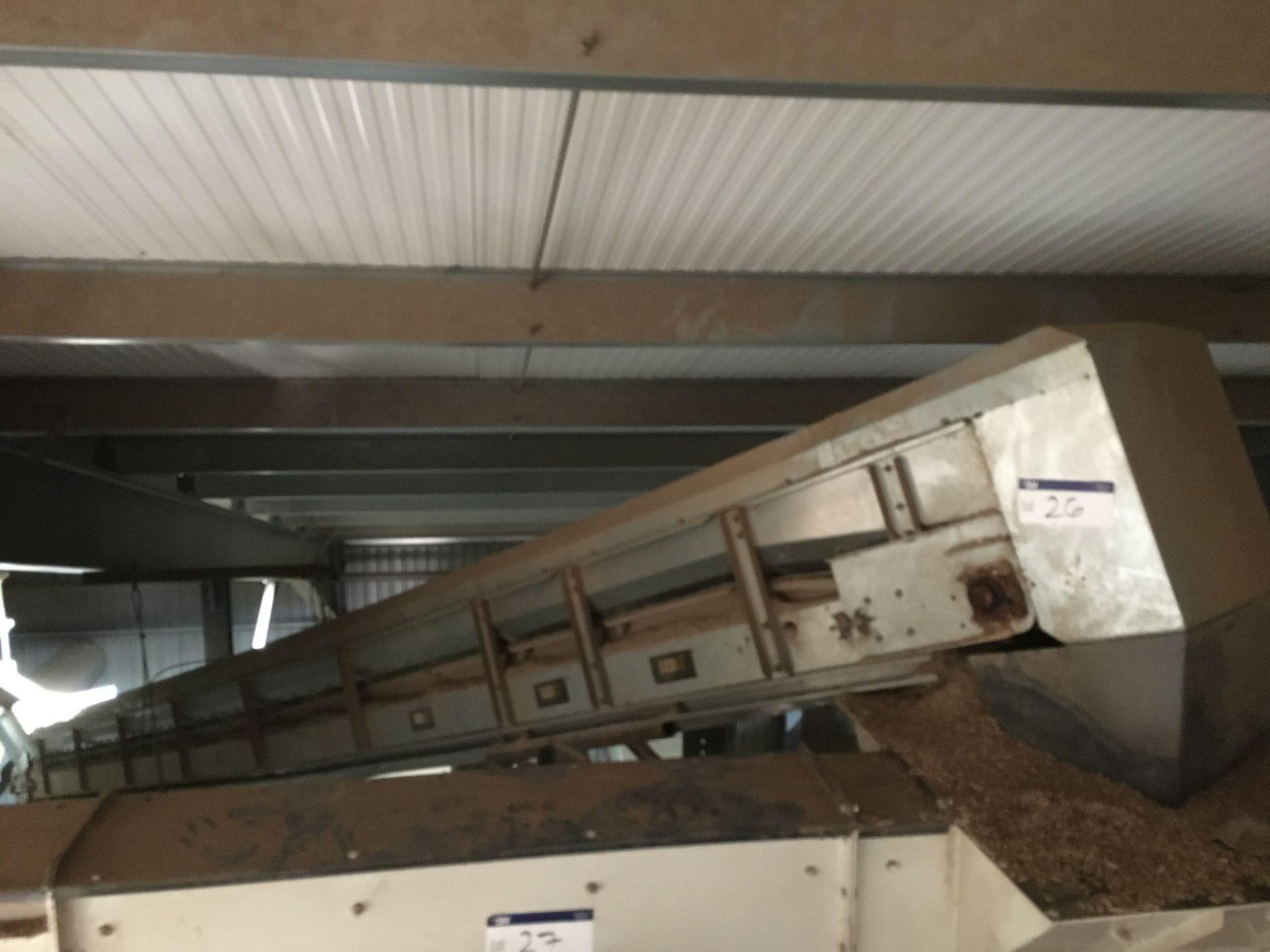Lot 26 - Coveya Easikit EK600 GALVANISED STEEL CASED INCLINED BELT CONVEYOR, serial no. 13013, length 9.46,