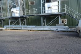 Coveya EASIKIT 600mm wide GALVANISED STEEL CASED CHEVRON TROUGH BELT CONVEYOR, approx. 15m centres