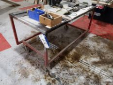 Mobile Steel Workbench, approx. 1800mm x 900mm (LO