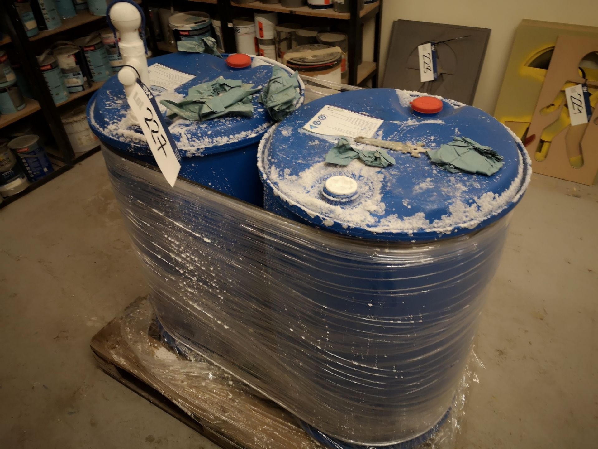 Lot 227 - Two 205 litre Adblue Containers, with pump, one em