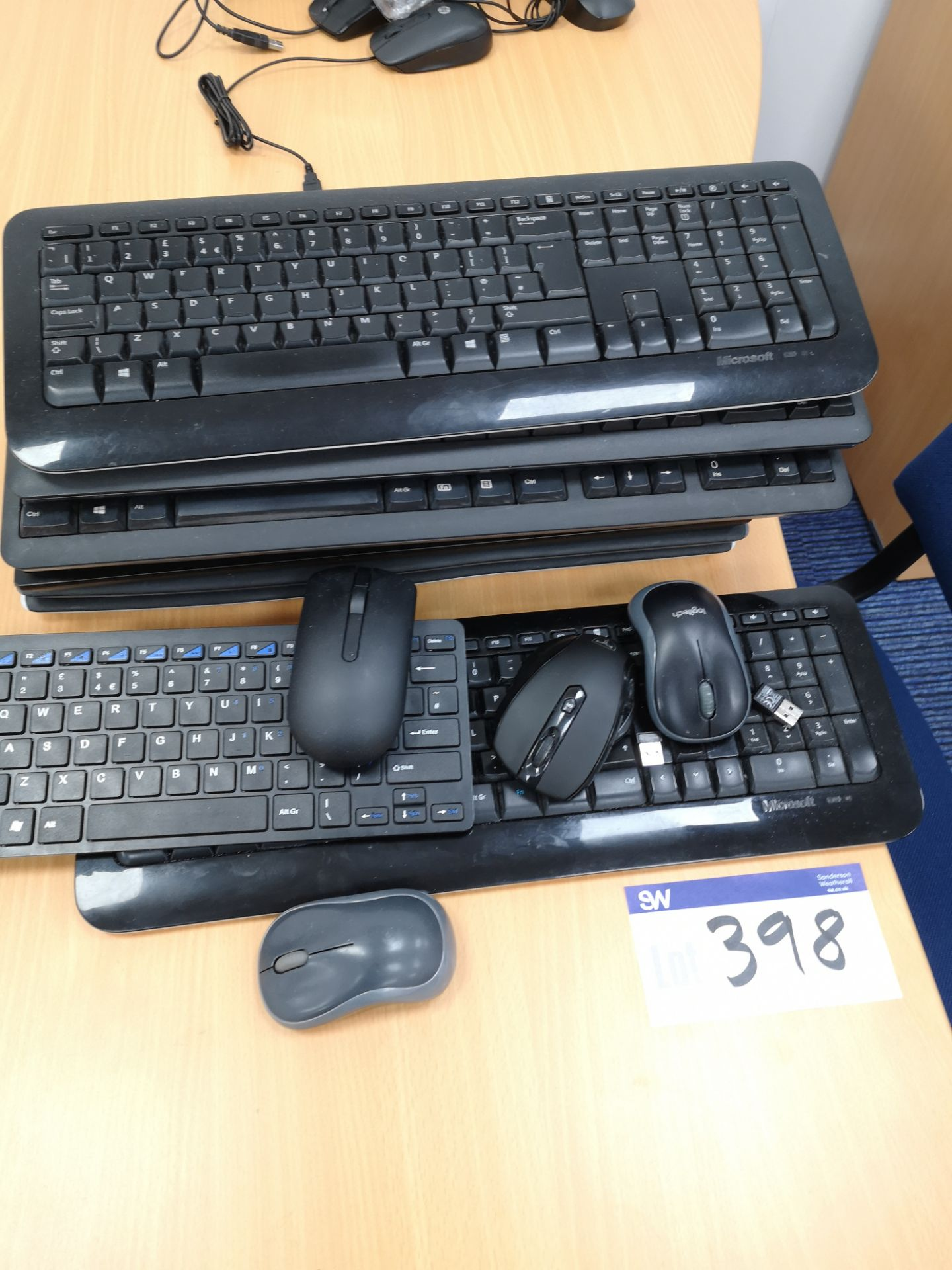 Lot 398 - Quantity of Wireless Keyboards & Mice (LOT LOCATED