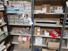 Contents to Two Bays of Shelving, including pole f