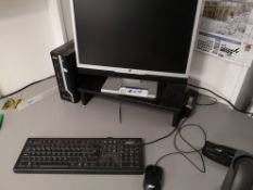 Acer Veritron Personal Computer, with V7 LW22D mon
