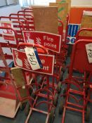 Seven Mobile Fire Extinguisher Stands (LOT LOCATED