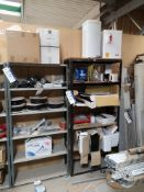 Contents to Two Bays of Shelving, including coax c