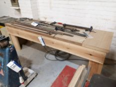 Timber Workbench, approx. 2' x 8' (LOT LOCATED AT