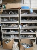 Contents to Three Bays of Shelving, including plum