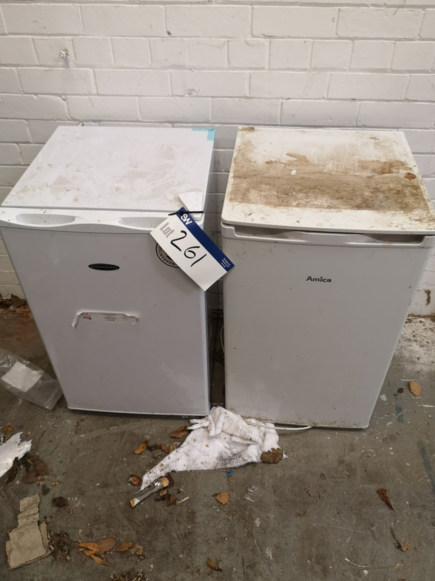 Lot 261 - Ice King and Amica under the counter Refrigerators